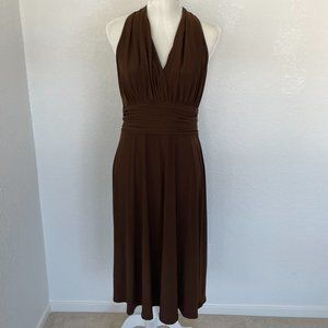 Evan Picone Brown Halter Dress